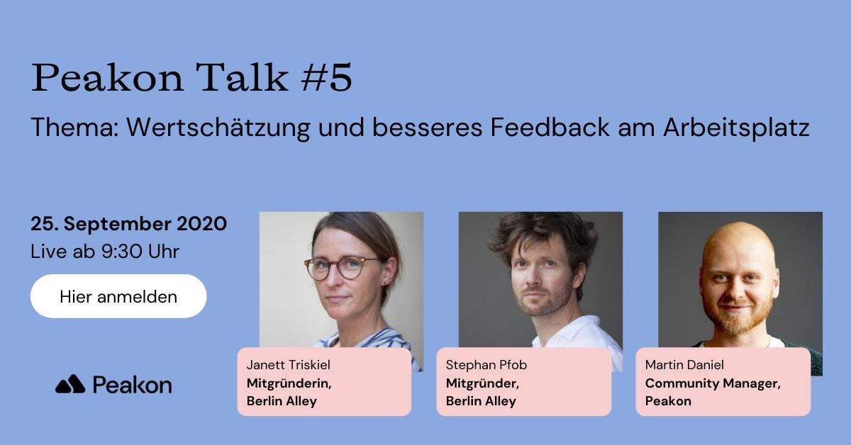 Peakon Talk Berlin Alley